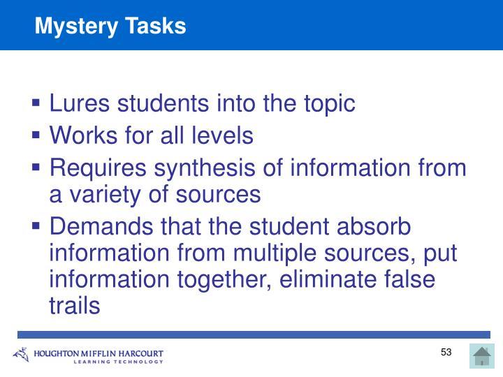 Mystery Tasks