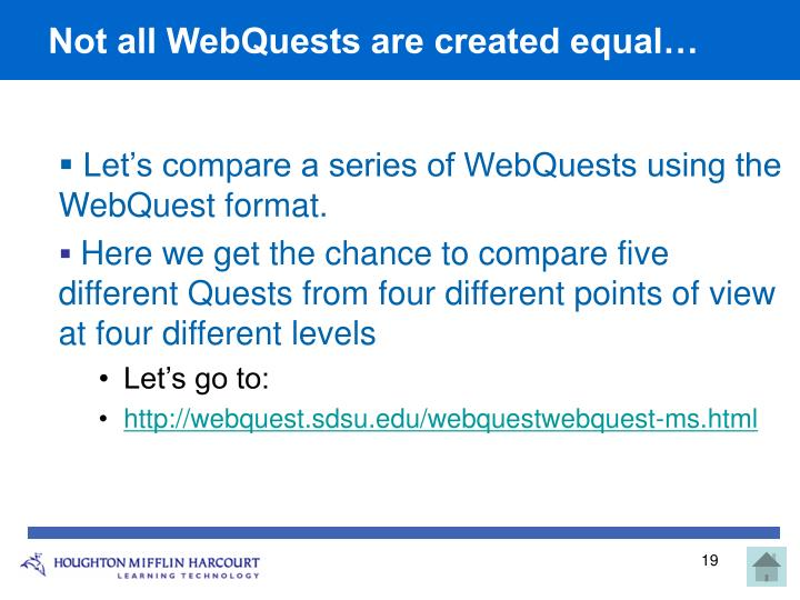 Not all WebQuests are created equal…