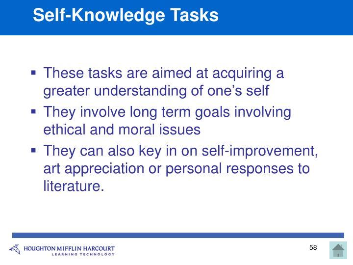 Self-Knowledge Tasks