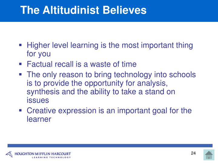 The Altitudinist Believes