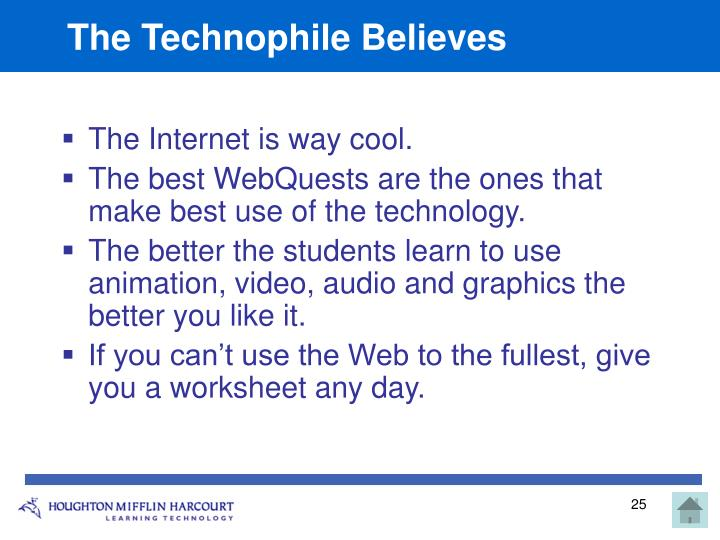 The Technophile Believes