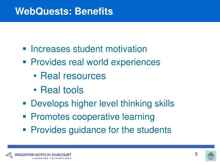 WebQuests: Benefits