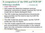 a comparison of the osi and tcp ip reference models continue 2