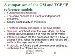 a comparison of the osi and tcp ip reference models