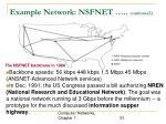 example network nsfnet continue 2