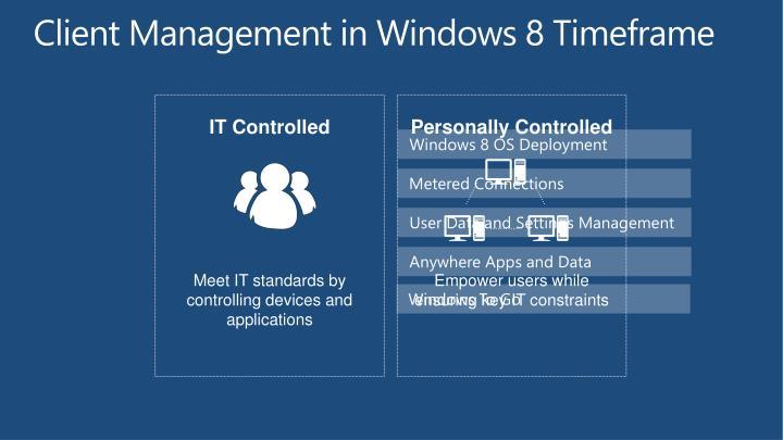 Client Management in Windows 8 Timeframe