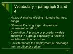 vocabulary paragraph 3 and 4