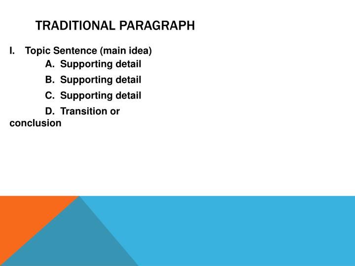 Traditional Paragraph
