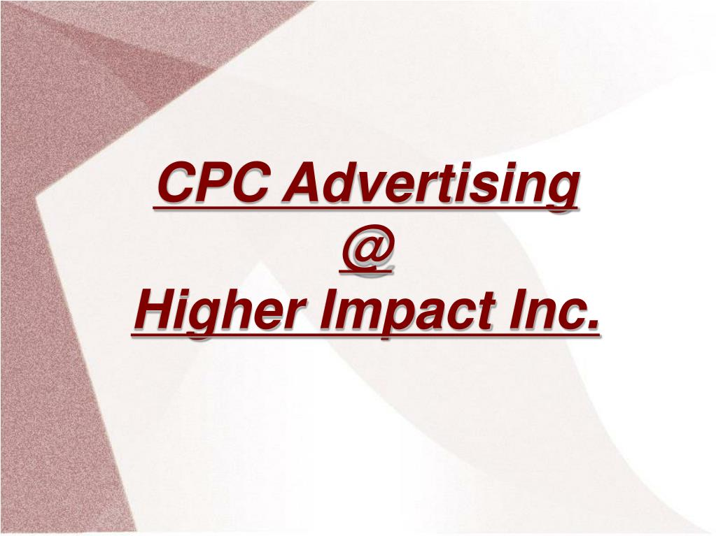 CPC Advertising