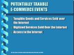 potentially taxable e commerce events