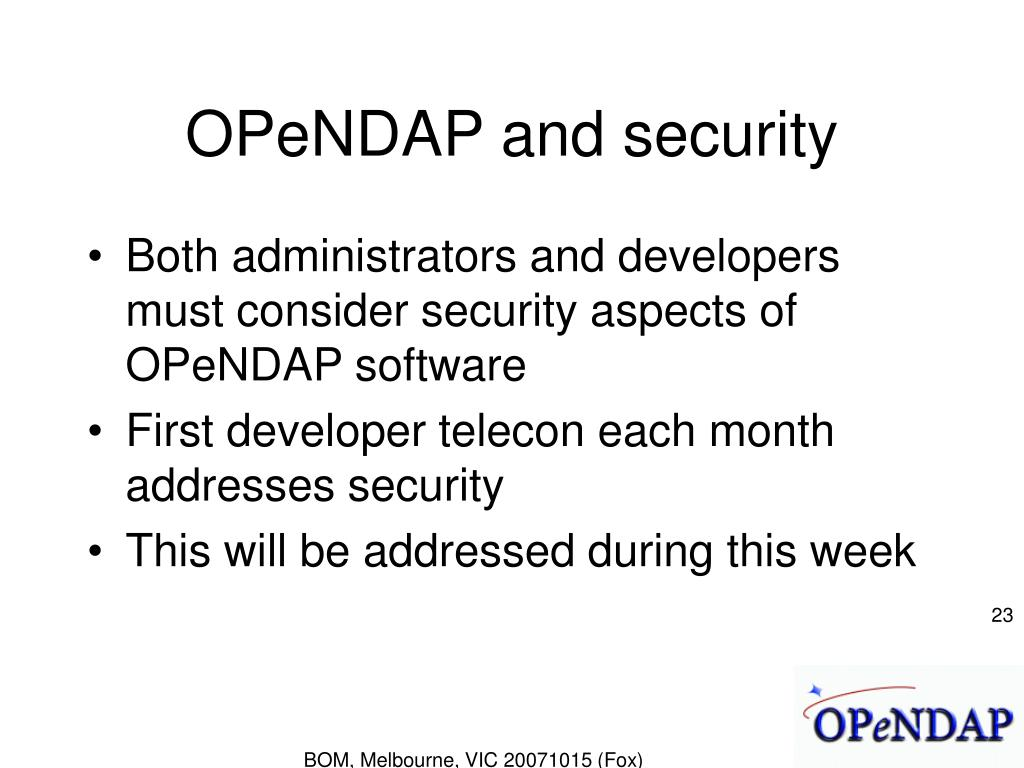 OPeNDAP and security