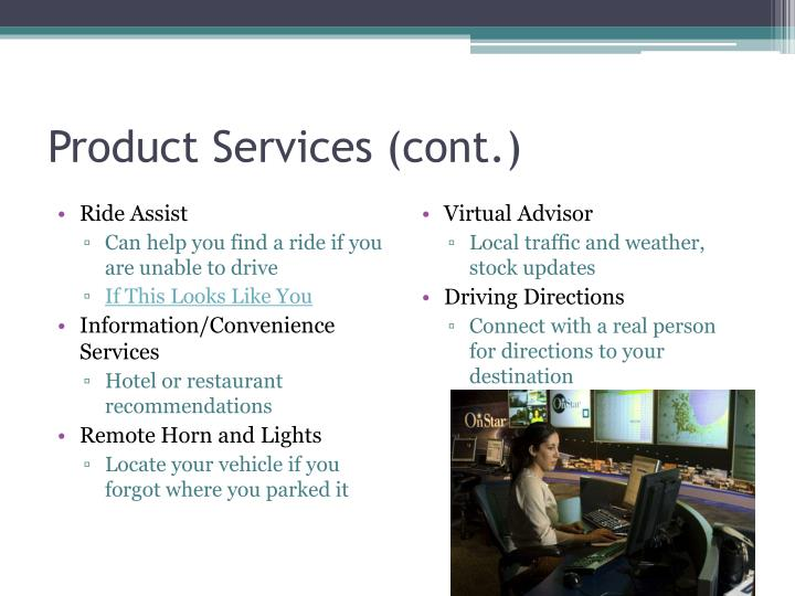 Product Services (cont.)