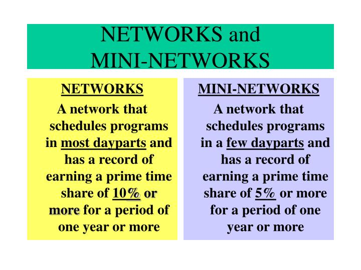 Networks and mini networks