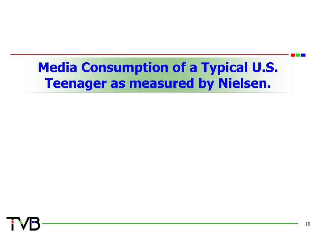 Media Consumption of a Typical U.S. Teenager as measured by Nielsen.