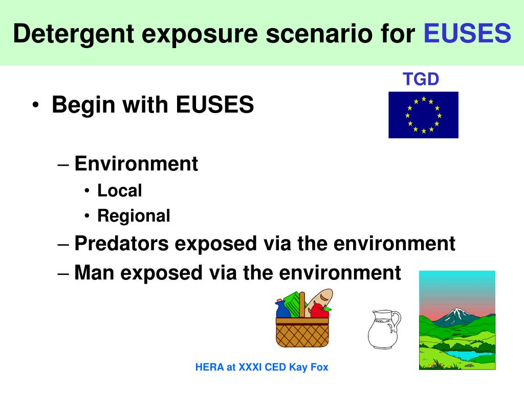 Detergent exposure scenario for