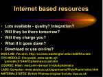 internet based resources