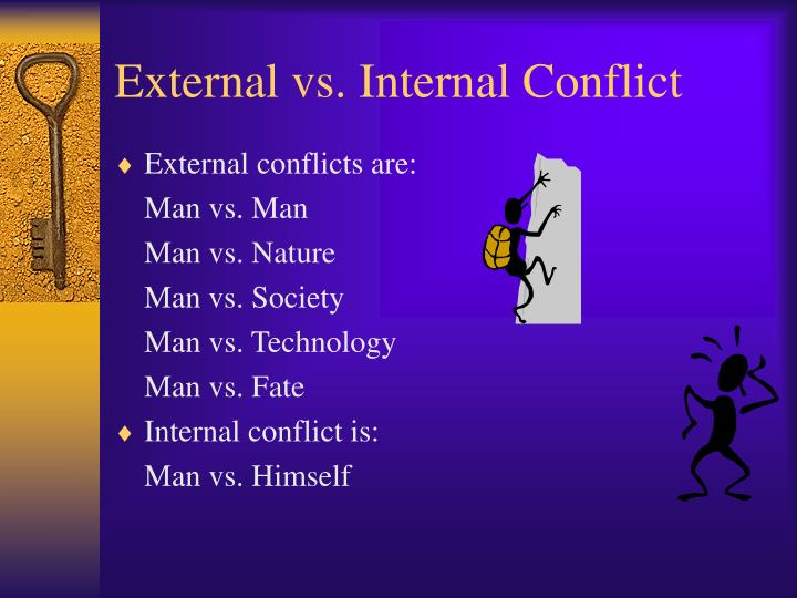 what is an example of external conflict