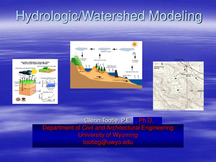 hydrologic watershed modeling