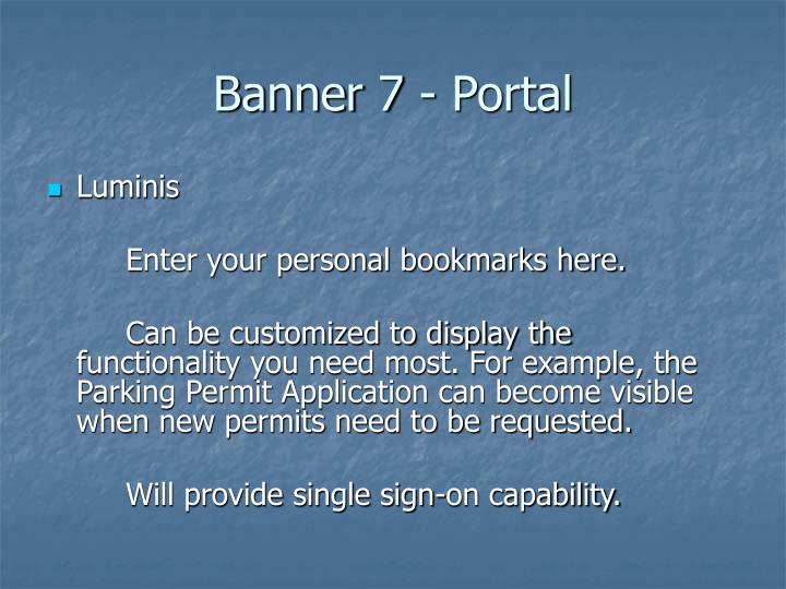 Banner 7 portal