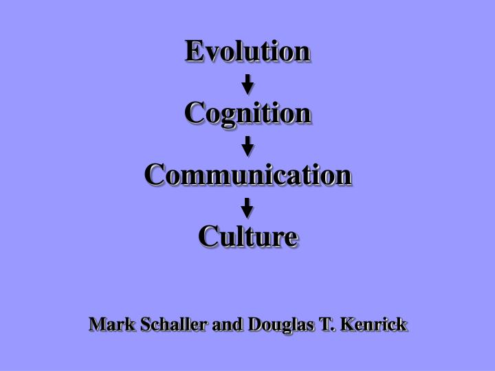 Mark schaller and douglas t kenrick