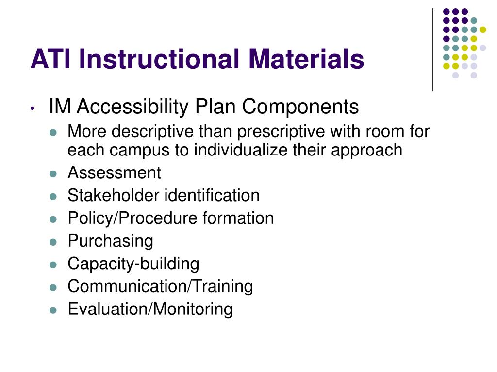 ATI Instructional Materials