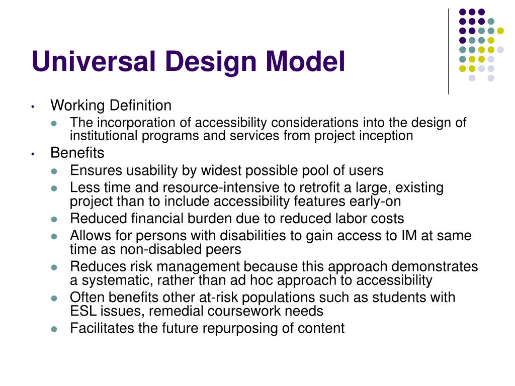 Universal Design Model