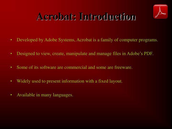 Acrobat introduction