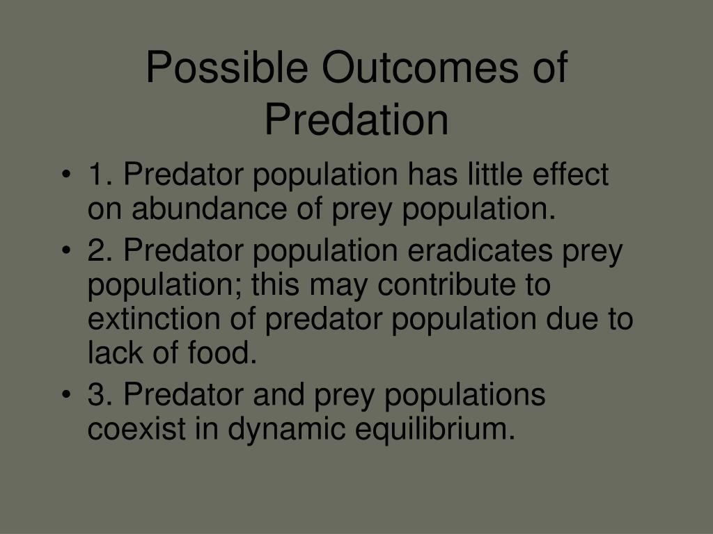 Possible Outcomes of Predation