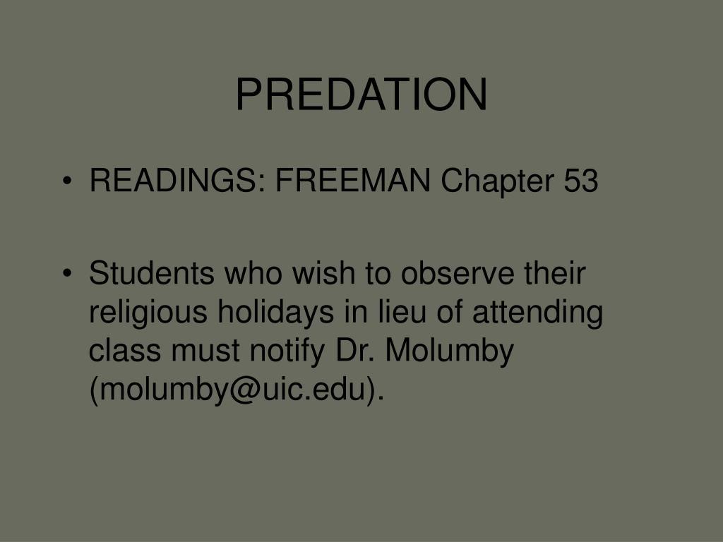 predation l.