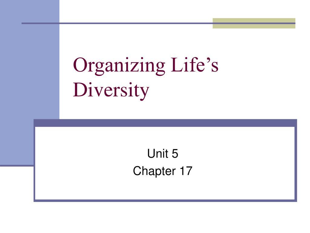 organizing life s diversity l.