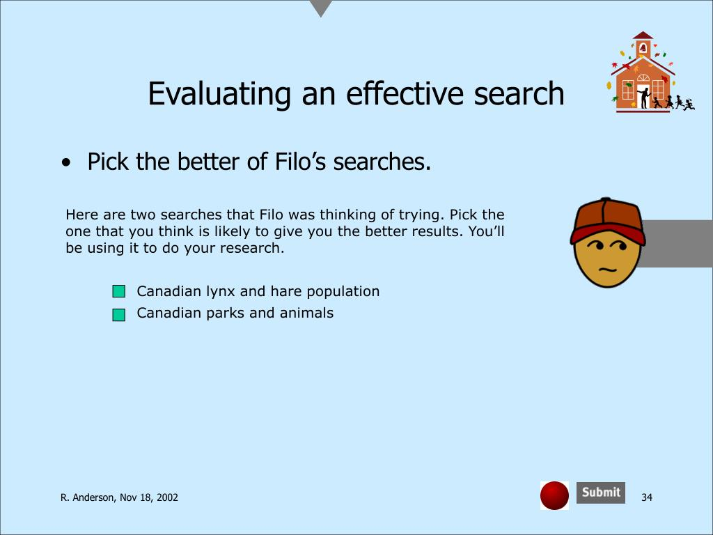 Evaluating an effective search
