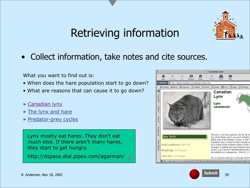 Retrieving information