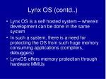 lynx os contd22