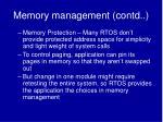 memory management contd