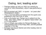 dating text leading actor