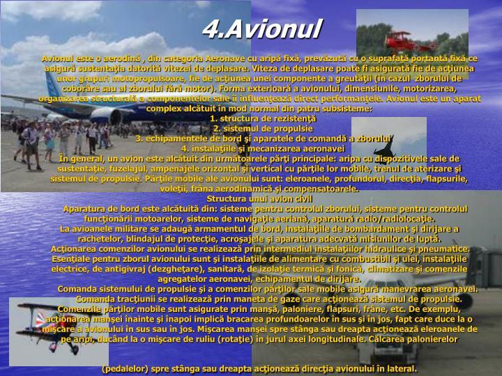 4.Avionul