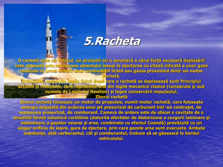 5.Racheta