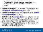 domain concept model cont