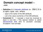 domain concept model cont24