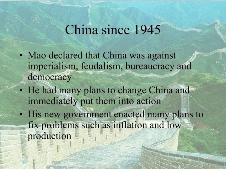 China since 19451