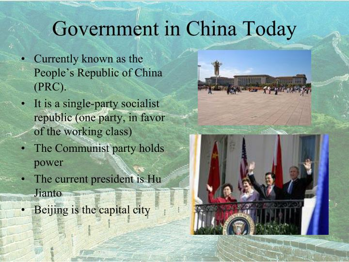 Government in China Today