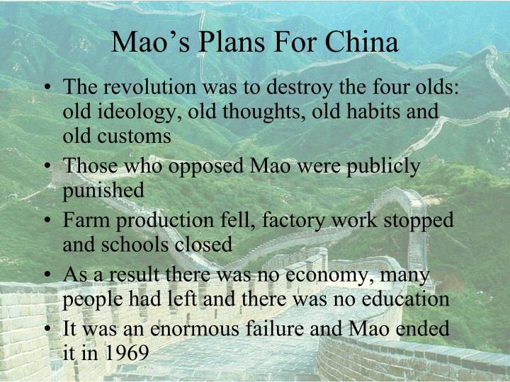 Mao's Plans For China
