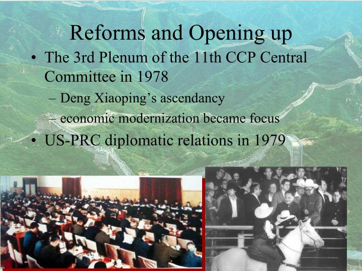 Reforms and Opening up