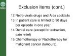 exclusion items cont17
