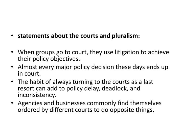 statements about the courts and