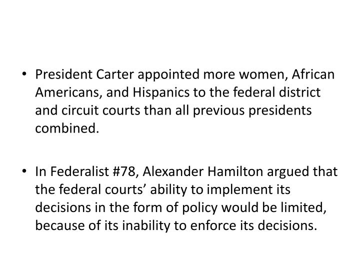 President Carter appointed