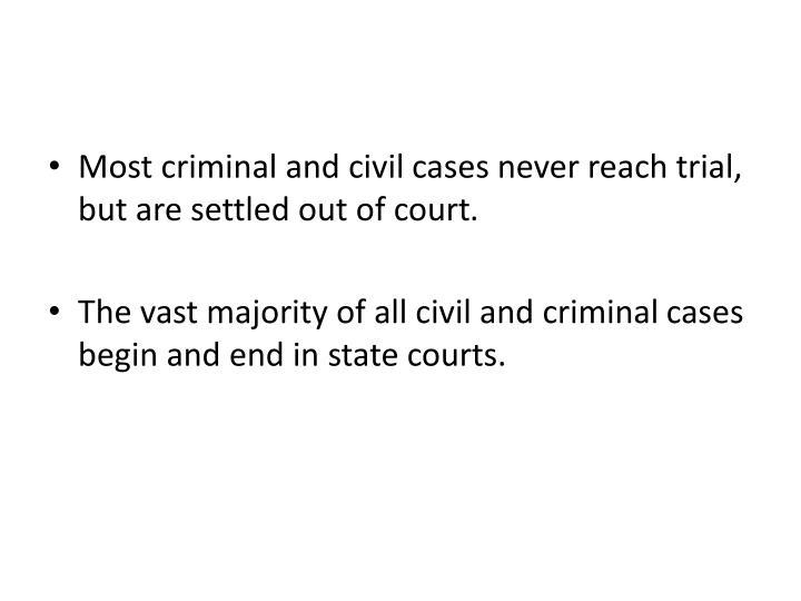 Most criminal and civil