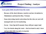 project finding analyze