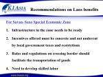 recommendations on laos benefits27