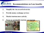 recommendations on laos benefits31